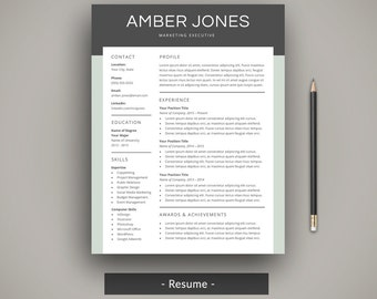 modern resume template professional cv template creative resume template word simple resume cover