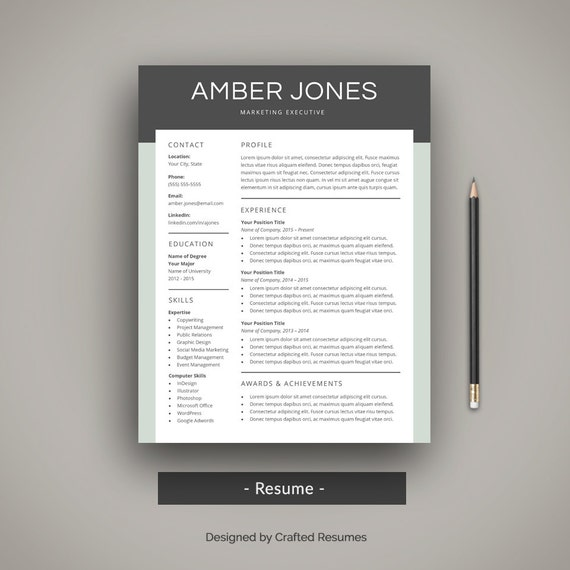 Modern resume template professional cv template creative modern resume template professional cv template creative resume template word simple resume cover letter 2 page resume mac or pc yelopaper Image collections