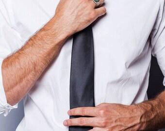 Men's Onyx Ring, Black Statement Ring, Square Statement Ring, Onyx Statement Ring, Onyx Gemstone Ring, Black Silver Ring - Free Shipping