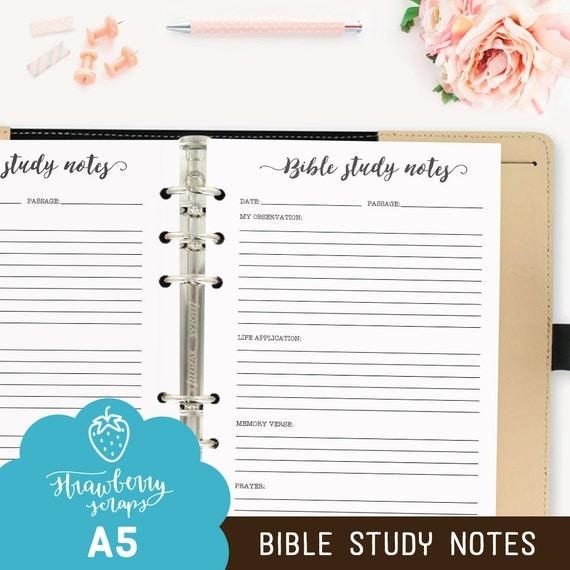 Bible study printable: BIBLE STUDY NOTES Bible
