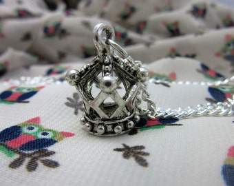 Fairy Queen's Crown Necklace on 18 Inch Silver Plated Chain
