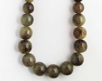 Handcrafted Marble Jumbo Round Beaded Statement Necklace