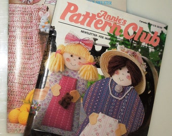 Two Annie's Pattern Club News Letter Magazines-Back Issues