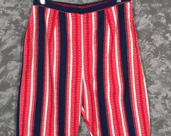 1960's Red White and Blue High Waisted Shorts