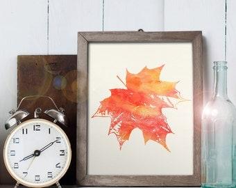 Maple Leaf Art - 8x10 printable digital file - INSTANT DOWNLOAD!