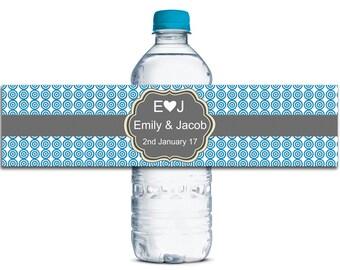 Custom Wedding Bottle Labels, Personalized Wedding Labels, Wedding Party Labels, Self Adheisve Labels, Waterproof Water Bottle Labels WBL59P