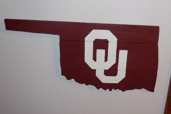 Oklahoma Sign Rustic Home Decor Reclaimed Wood Oklahoma