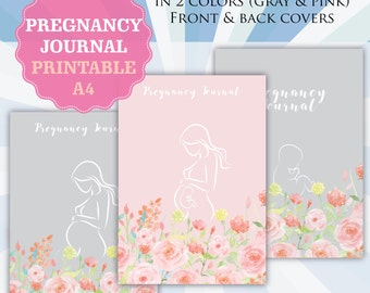 Printable Pregnancy Journal, Pregnancy Diary, Maternity, Baby shower gift, Pregnancy announcement, Printable journal, INSTANT download