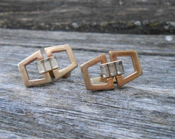 Vintage Gold  Abstract Cufflinks. 1980s.