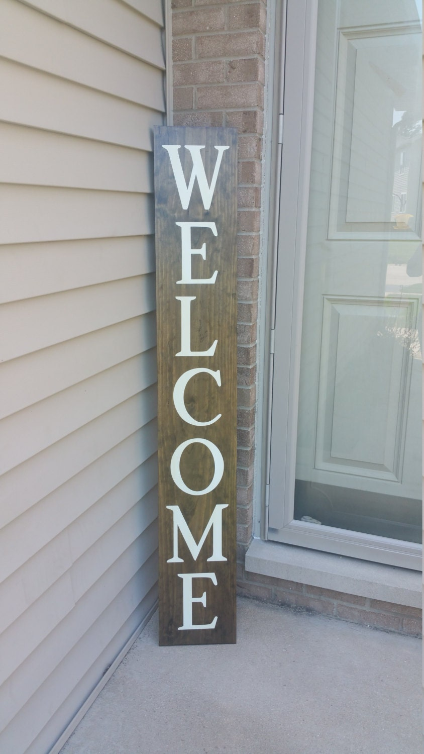 Welcome Front Porch Wooden Sign Front Porch Sign Welcome