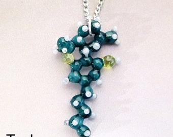 Glass THC Molecule Necklace/Pendant,Science,Biochemistry,Chemistry,Chemical Structure Pendant