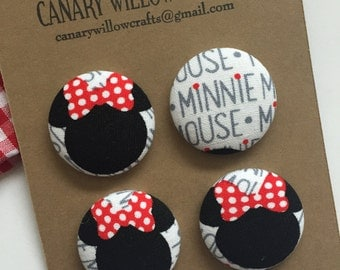 Minnie Mouse Magnets, Refrigerator Magnets, Office Decor, Kitchen Decor, Cubicle Decor, Fridge Magnet, Desk Accessories, Gifts For Teachers