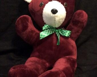 "19"" Handmade Teddy Bear - Maroon"