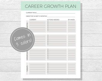 Business Goals Printable - Goal Setting - Work Goals - Self Improvement - Professional Goals - Personal Development - Career Growth Plan