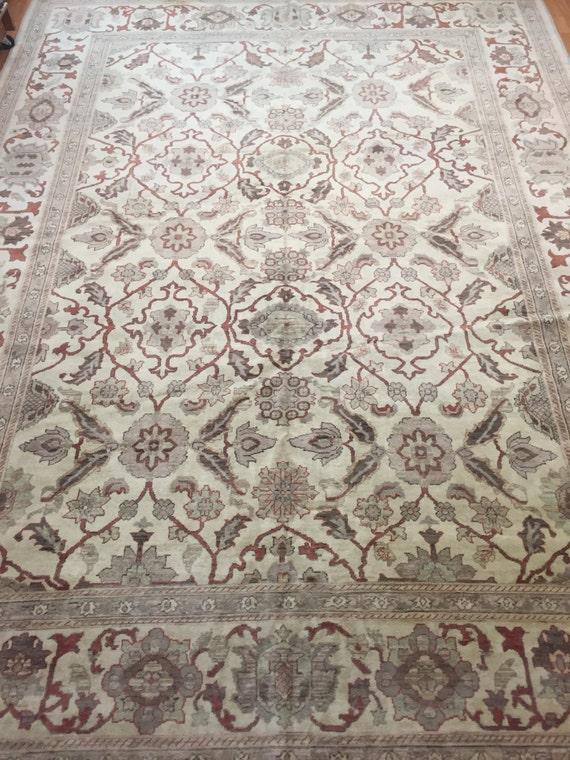 "9' x 12'2"" Pakistani Peshawar Oriental Rug - Hand Made - Vegetable Dye - 100% Wool"