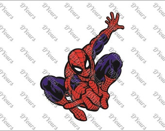 Spiderman SVG Vector Model - svg cdr ai pdf files - Instant Download Files for Laser Cutting Printing CNC Cut Engraving Clipart