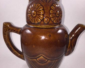 Owl Teapot Mid Century