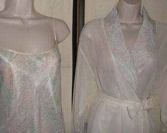 Nightgown Robe Set Etsy
