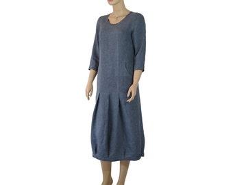 Linen French Street Dress