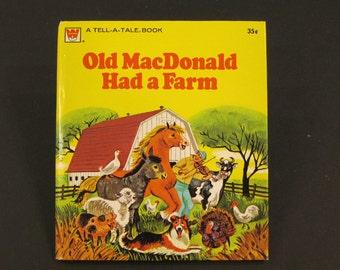 OLD MacDONALD HAD A FARM    vintage Like New  Whitman Tell a Tale Carl Mary Hauge eeiigho 1975 McDonald's nice!!