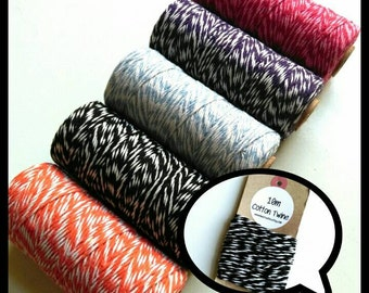 Coloured Cotton Twine - packaging, craft projects