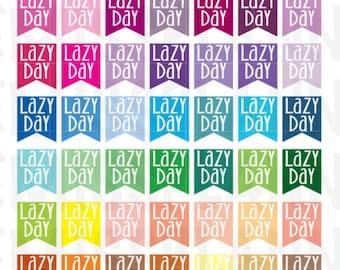 Lazy Day Flag Stickers