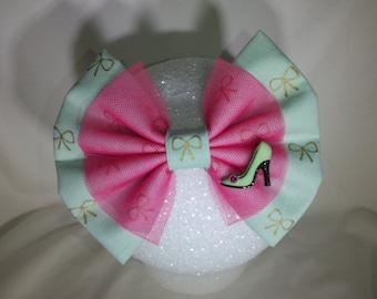 Mint Green High Heel Hair Bow