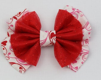 Valentine's Day Hair Bow
