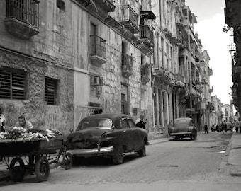 Fine Art Photography, Cuba, Cuba Photography, Fine Art Print, Cuban Imagery, Black & White Photography, Travel Photography - Havana Streets