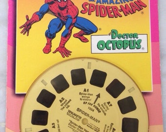 vintage new 3-D View Master The Amazing Spider Man versus Doctor Octopus 3 reels BRAND NEW UNOPENED 1979