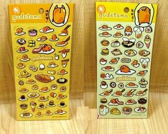 GUDETAMA Lazy Egg Breakfast Theme Sticker Sheet - Sanrio Character