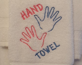 Hand Towel 5x7 Hoop Machine Embroidery Design for 130mm x 170mm Hoop