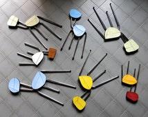 Formica Chair art object diverted recycled / original / unique / wall art / trivet / decoration / art of table / trivet / flesh