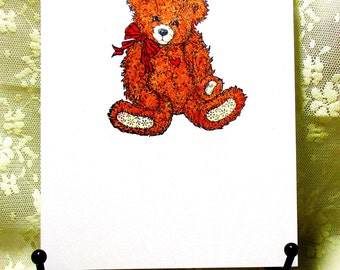 Teddy Bear Card: Add a Greeting or Leave Blank