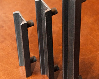 "Drawer or Cabinet Door Pull/Handle, Industrial C-Channel Structural Steel - 1.5"" Wide"