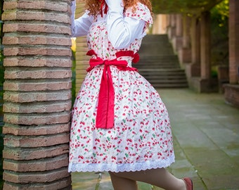 Lolita dress,Sweet Lolita JSK,Sweet lolita,Pink dress,Country lolita dress,Pin Up Dress,Party Dress,Midi Dress,Vintage Dress,READY to SHIP