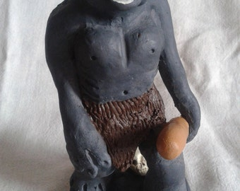 Troll cave figurine / Troll cave sculpture /Troll cave statue /Fairy-tale figurine creatures / Norse mythical statue / Hand Painted