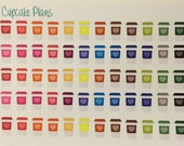 Colorful Coffee Cups To Go Planner Stickers