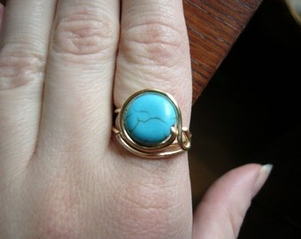 Turquoise Ring size 7.5