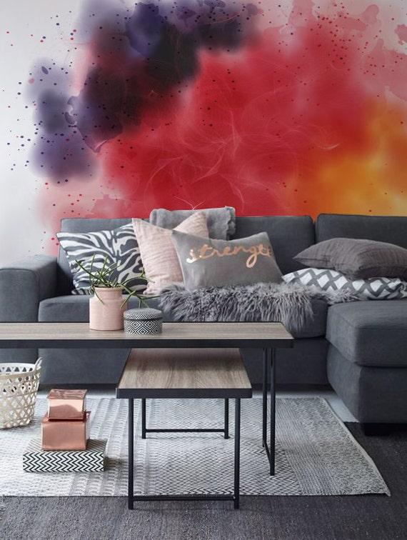 Color Smoke Watercolor Adhesive Wallpaper Removable