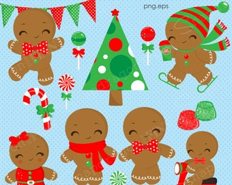 Christmas Gingerbread Clipart, Christmas clipart, Gingerbread clipart, Christmas Paper, Gingerbread Man, Commercial License Includ