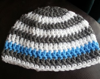 Tuque striped crochet for baby