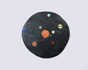 Solar System Polymer Clay Coaster