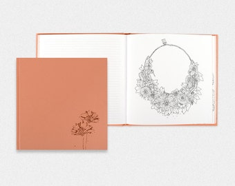 Coloring Pages- Leather Notebook Sketchbook Diary Journal