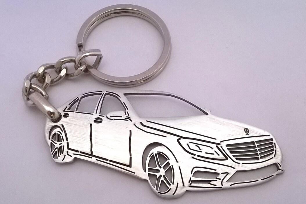 Mercedes keychain mercedes benz keychain by tagsandkeychains for Mercedes benz keychain