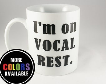 Broadway.Vocal Rest. I'm on Vocal Rest mug. Theatre.Singer. Music.Vocal health. Singer mug. Coffee mug.Nodes.Musicals. Broadway musicals