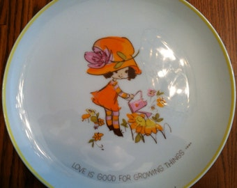 Love is Good For Growing Things Mopsie Collector's Edition Porcelain Plate 1973
