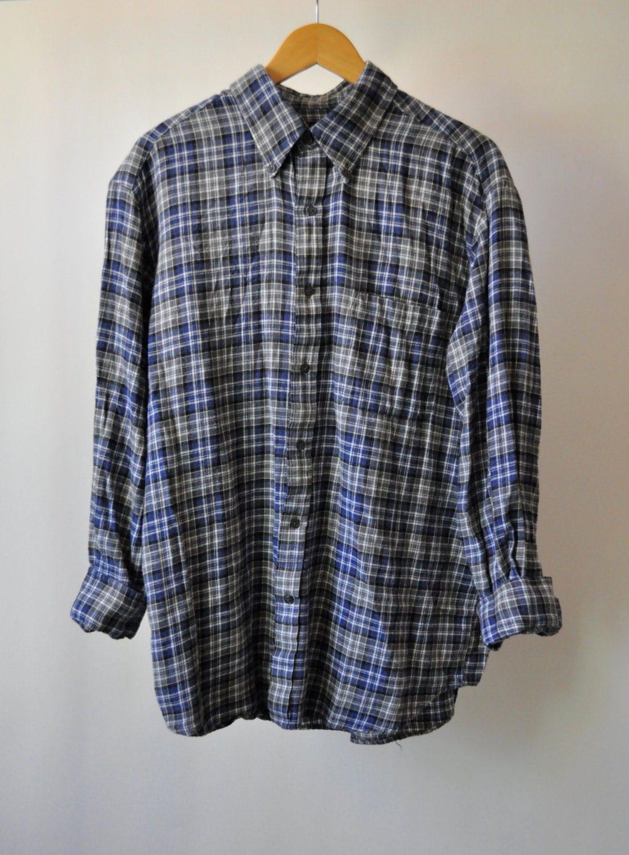 Flannel Shirt Vintage Grunge Flannel Size Large Vintage