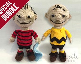 SPECIAL BUNDLE: Amigurumi Crochet Pattern - Charlie Brown & Linus Van Pelt [Peanuts]