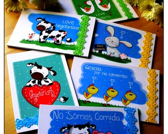 Card collection SmoolVeggie (Pack of 6)